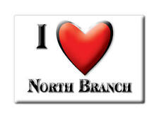SOUVENIR USA - MICHIGAN FRIDGE MAGNET I LOVE NORTH BRANCH (LAPEER COUNTY)