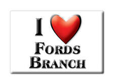 SOUVENIR USA - KENTUCKY FRIDGE MAGNET I LOVE FORDS BRANCH (PIKE COUNTY)