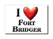 SOUVENIR USA - WYOMING FRIDGE MAGNET I LOVE FORT BRIDGER (UINTA COUNTY)