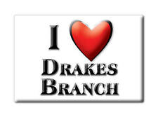 SOUVENIR USA - VIRGINIA FRIDGE MAGNET I LOVE DRAKES BRANCH (CHARLOTTE COUNTY)