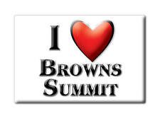 SOUVENIR USA - NORTH CAROLINA MAGNET I LOVE BROWNS SUMMIT (GUILFORD COUNTY)