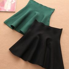 Mini Gonna Donna Vita Alta Autunno High Waist Mini Skater Skirt - 130032