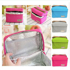 Outdoor Storage Bag Portable Tote Thermal Insulated Picnic Lunch Box 4 Colors