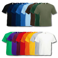 10er Fruit of the Loom T-Shirt Herren Shirts Valueweight Sets Tshirt S - XXL