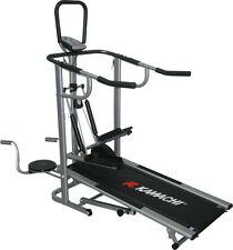 Kamachi 4 In 1 Top Quality Manual Treadmill, With Stepper, Twister, Push Up Bar