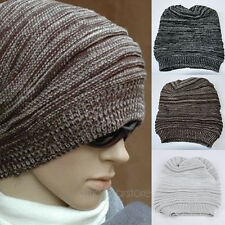 Women Men Unisex Knit Baggy Beanie Hats Winter Oversized Ski Slouch Cap Hat Warm