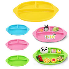 Eco-Friendly Kids Baby Food Grade Silicone Divided Plate Tableware Microwaveable