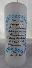 Personalised Memorial Remembrance Absence Candle Gone Too Soon Baby loss