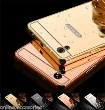 Aluminum Metal Frame Bumper with Acrylic Mirror Pc Back Cover For Oppo F1 PLUS