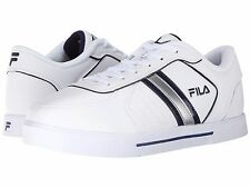 FILA Shoes Mens White Estero 3 White Athletic Navy Lace Up Training Sneaker