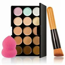 15 Colors Contour Concealer Palette +1 Cream Powder Makeup Brush +1 Make Up Puff