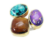 flawless Multi Turquoise Copper Multi Ring jaipur L-1in IN 7,8,9