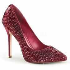Fabulicious by Pleaser AMUSE-20RS Hidden Platform Pump Women's Ruby Red