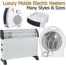 Electric Heaters 2kW 2000W Portable Mobile Conservatory Home Hot Cold Fan Heat