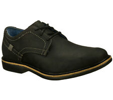Skechers Men's Malling Lace Up Dress Casual Oxford Shoes Black 68115