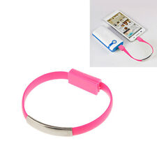 USB Charger Cable Wrist Cable Bracelet Sync Short Data Cable for Samsung Iphone