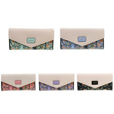 Fashion Flower Print PU Flap Wallet Purse Clutch Bag for Women Ladies
