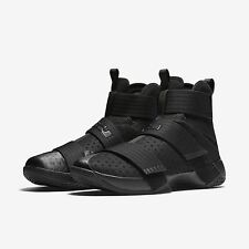 Nike Lebron Zoom Soldier X 10 Black/Black Triple Blackout Mens All NEW