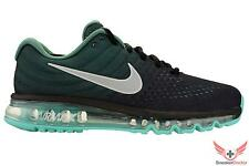 New Nike Mens Air Max 2017 Running Shoes Black/White/Green Stone All Sizes