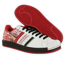 Adidas Halfshells Low Chicago Mens Shoes White/black/red Size