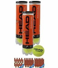 SPORTIVO HEAD Radical Tri Pack Tennis Balls 12 Pack Yellow