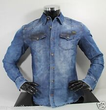 Hombre Clubwear Jeans Denim Camisa vaquera USADO Catch by Leif Nelson