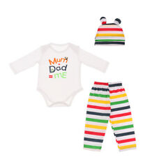 Newborn Toddler Baby Boys Girls Rompers Bodysuit Playsuit Clothes Outfits 0-12M