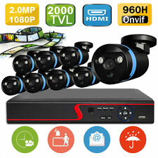 8CH/4CH CCTV FULL HD DVR Outdoor IR Video Cameras Home Security System IP CAMERA