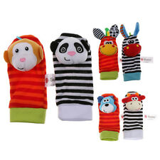 Animal Baby Infant Soft Foot Socks Rattles Playing Toy