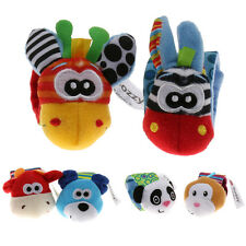 Animal Shape Baby Kids Hand Wrist Bell Soft Toy