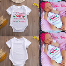 Cotton Cute Newborn Kids Romper Bodysuit Jumpsuit Outfits Clothing White