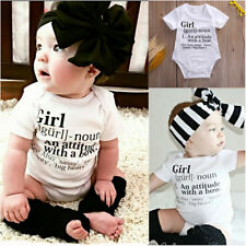 New Comfy Infant Baby Bodysuits Printed Letters Romper One-piece Playsuits 0-24M