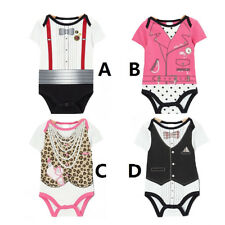 Babys Romper Jumpsuit Kid Bodysuit Casual Faux Twinset Outfits Toddler Clothes