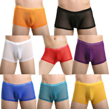 New Sexy See-Through Men's Boxer Briefs Trunks Underwear Shorts Mesh Underpants