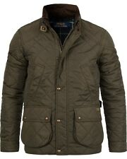 Polo Ralph Lauren Litchfield Cadwell Quilted Bomber Hunting Jacket Olive