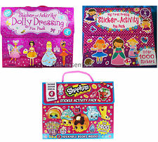 Shopkins Sticker & Activity Book Pack My First Dolly Dressing Pretty Gift Girls