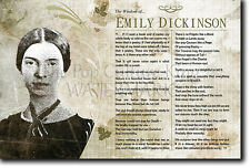 The Wisdom of... Emily Dickinson - Poster Art Print Photo Gift Motivation Quotes