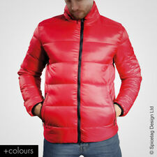 Mens Supersoft Padded Jacket Coloured Puffer Coat Fashion Wind Zip Up Style Top
