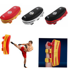 Thai Kick Boxing Strike Curved Arm Pad Focus Martial Arts MMA Punch Shield New