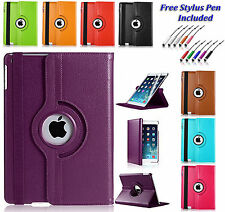 360 Rotating Leather Stand Smart Case Cover Holder For Various Apple iPad's UK