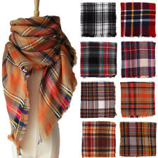 Warm Cashmere Tassels Plaid Scarf Scarves Wool Shawl Pashmina Wraps for Women
