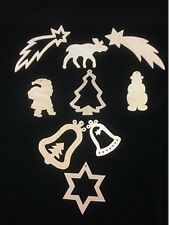 3x Wooden Christmas Xmas Tree Hangers Decorations Plaques Christmas Craft Child