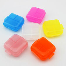 Mini Travel Pill Box Medicine Organizer Container Tablet Case w/ 3 Compartments