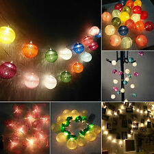 10/20LED Blub Fairy String Lights Battery Operated Xmas Party Wedding Decor Lamp