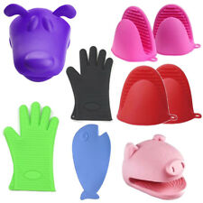 Oven Mitt Silicone Cooking Barbecue BBQ Christmas Roast Kitchen Accessories Gift