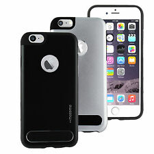 Luxury Tough MOTOMO Hard Back Case Cover For Apple iPhone 6 6s SILVER BLACK