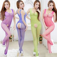 Fishnet Crotchless Bodystocking Lingerie Womens Nightwear Sexy Emporium | A24