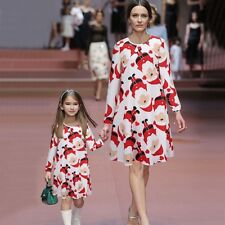 2018 Christmas Family Matching dress Mommy and Me Clothes xMas Long Sleeve Girl