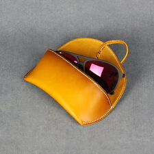 Genuine Leather Glasses Soft Case Spectacles Sunglasses Pouch * 5 Colours New