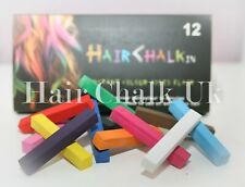 HAIR CHALK UK -12 Piece Sets of Hair Chalk, Hair Pastels, Hair Colour, Wash Out